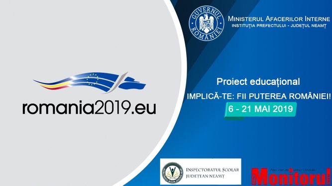 """Proiectul educaţional """"IMPLICĂ-TE: FII PUTEREA ROMÂNIEI!"""""""