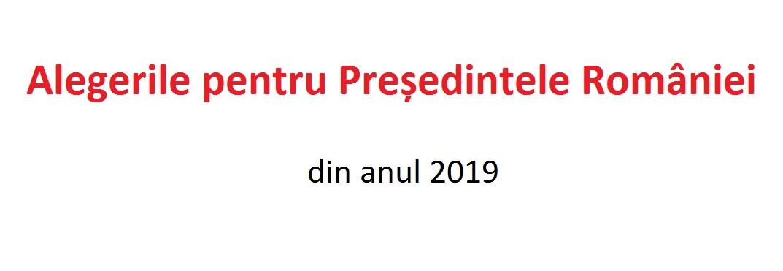 Alegerile pentru Președintele României  (2019)
